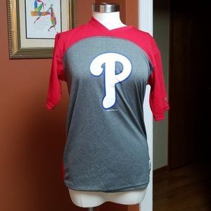 Tops - Phillies red/ gray t-shirt
